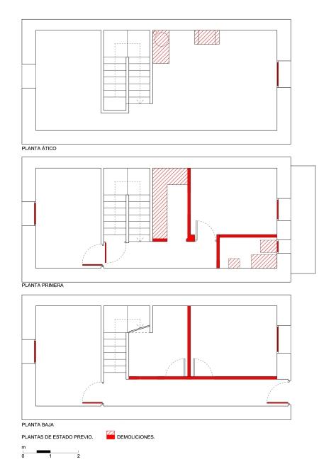 Casa Rosa | Estado Previo y Demoliciones