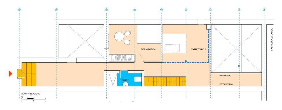 Reforma en Valle del Jerte | Planta zona dormitorios